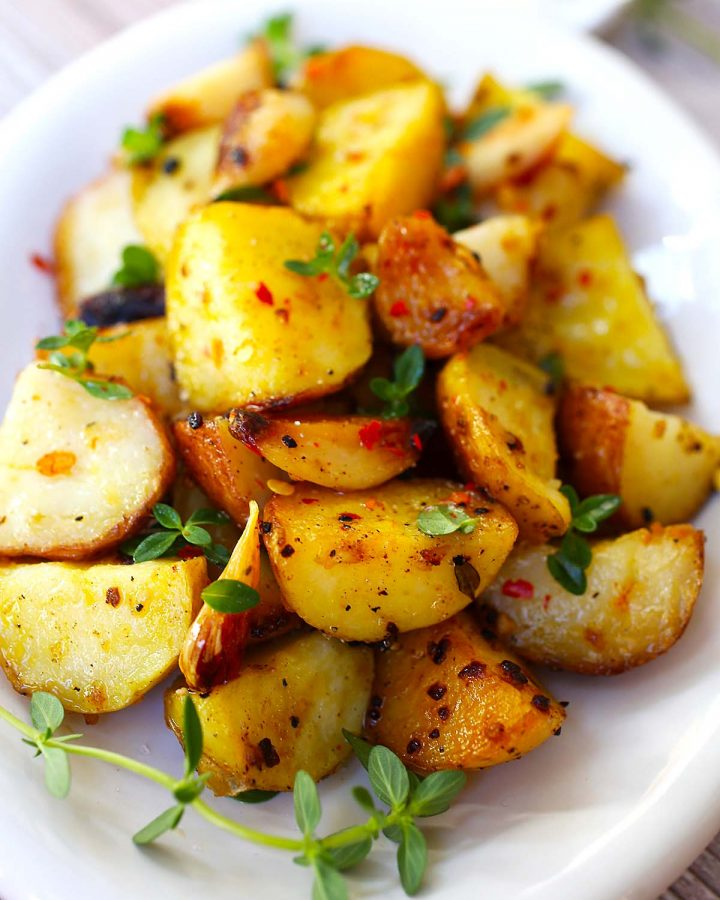 Butter-Garlic Roasted Potatoes