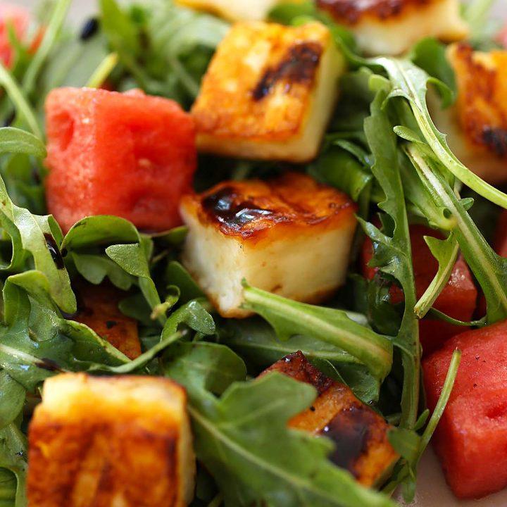 Halloumi and Watermelon Salad