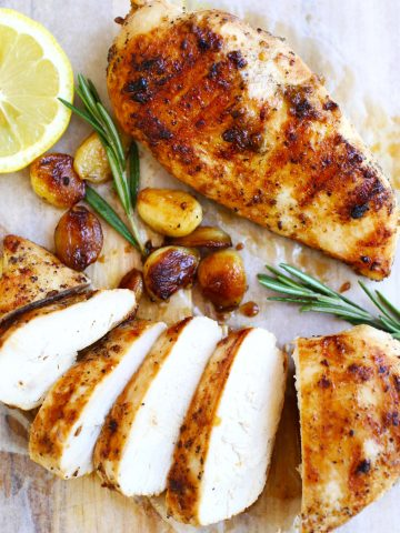 Garlic-honey chicken
