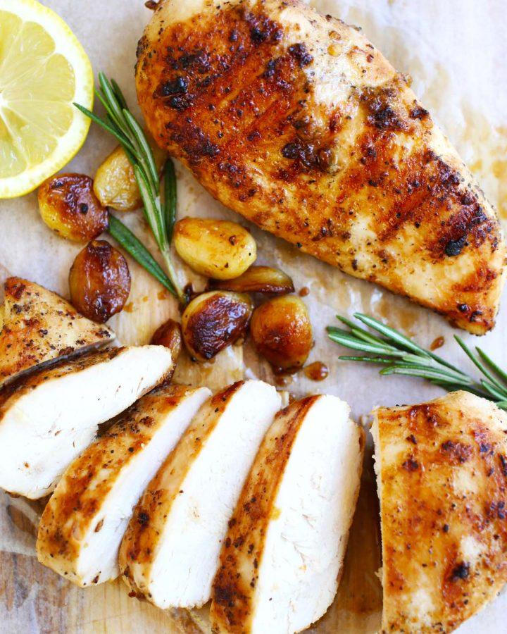 Garlic-honey chicken
