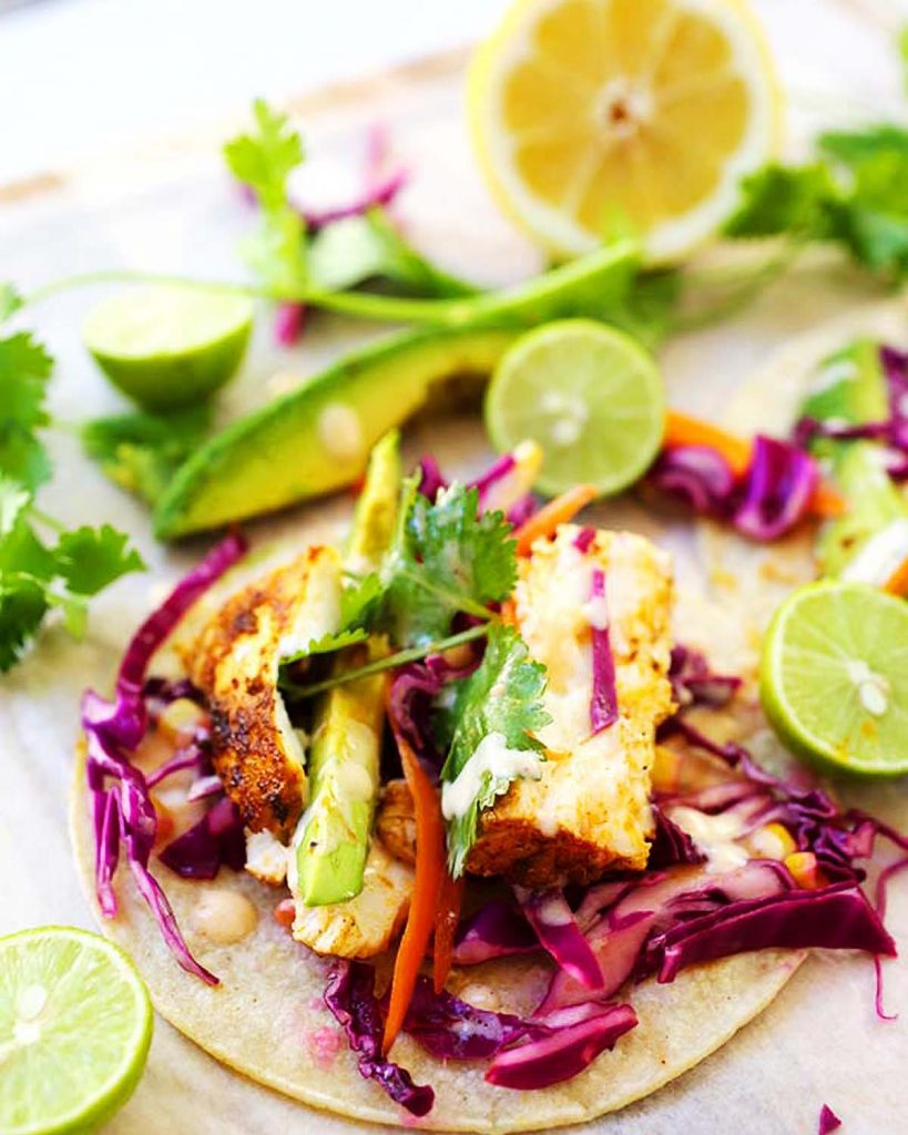 Fish Tacos with lime