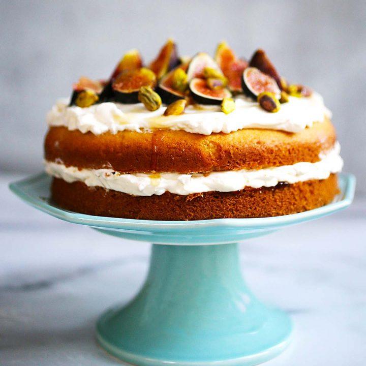 Fig Pistachio and Honey Cake