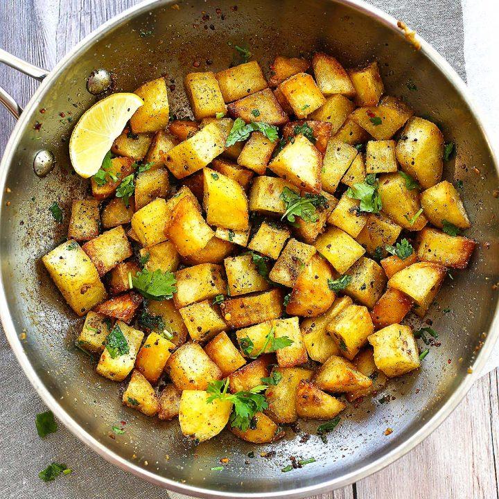Garlic and Coriander Potatoes