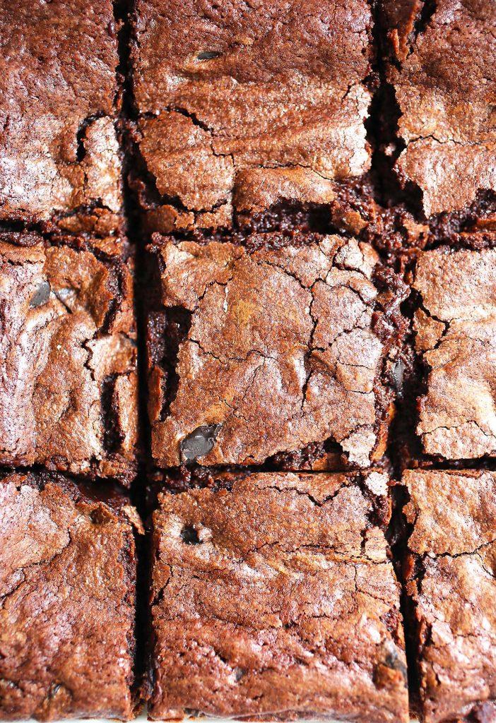 Brownies in pan.