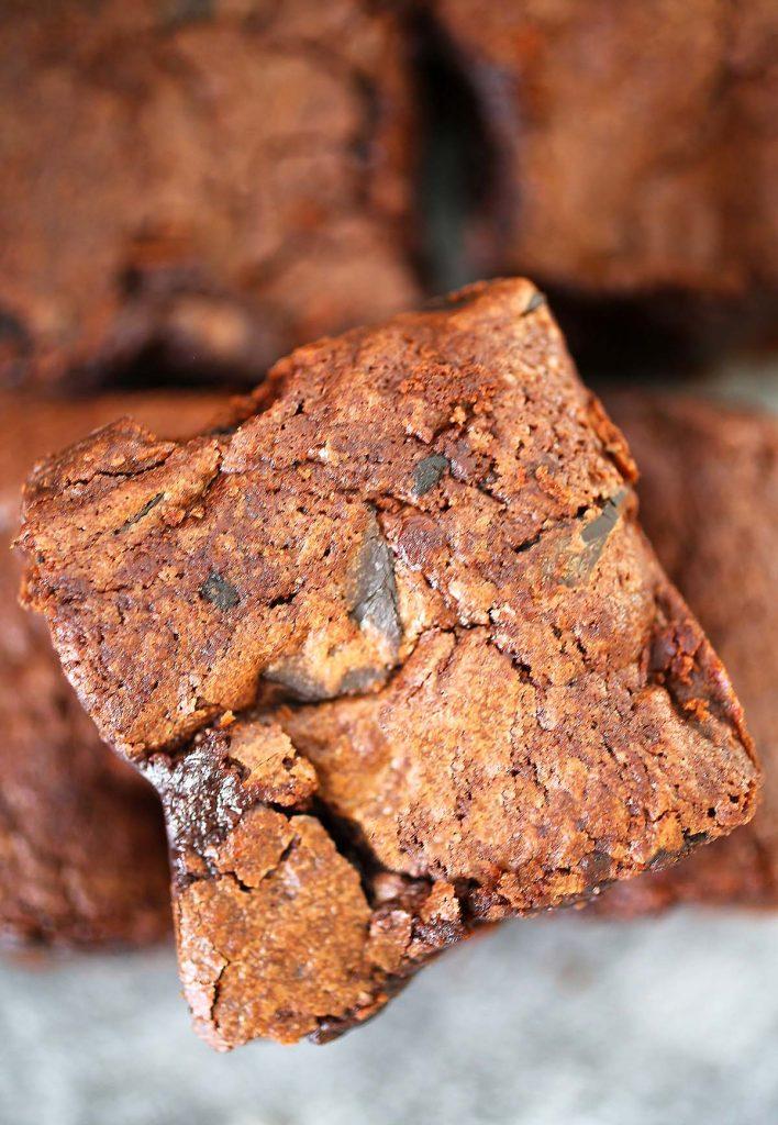Glorious fudgy brownies.