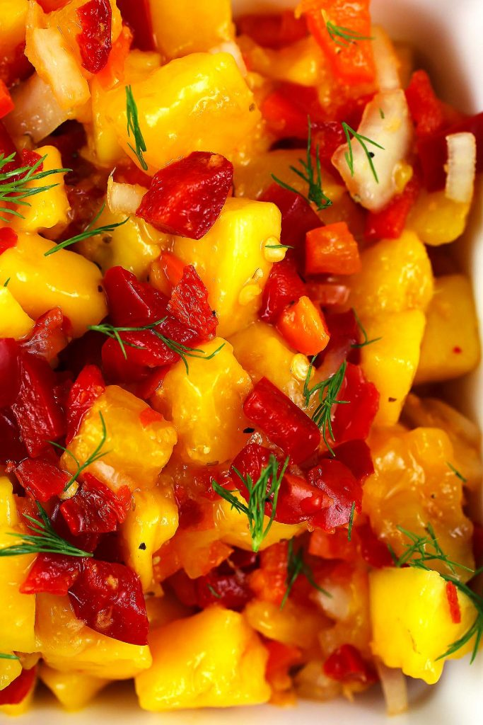 Mango and ginger salsa.