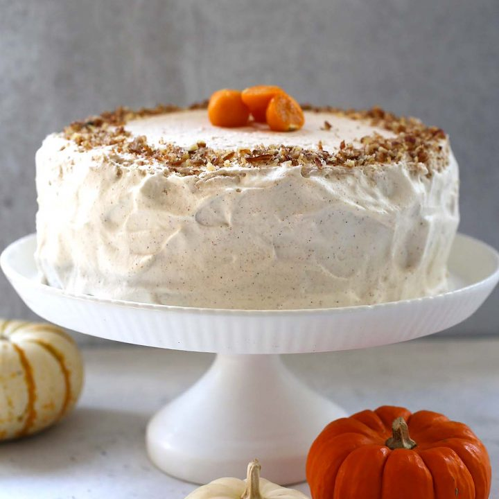 Pumpkin Spice Cake with Cinnamon Cream Frosting