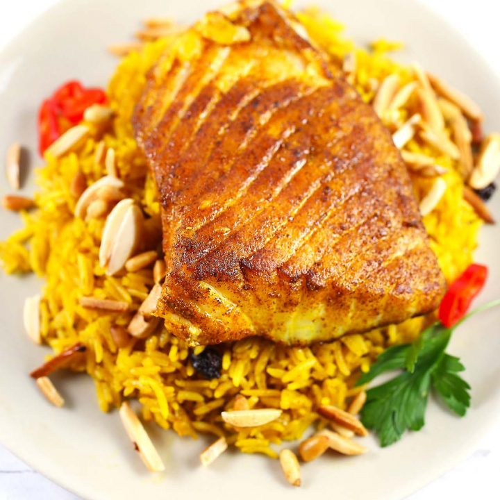 Basmati Rice and Spiced Fish