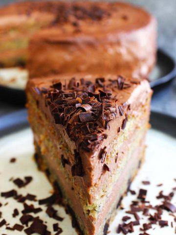 Banana chocolate cheese cake
