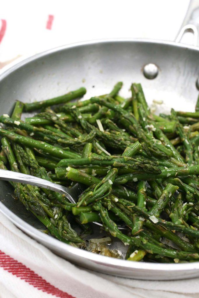 Garlic Parmesan sauteed asparagus