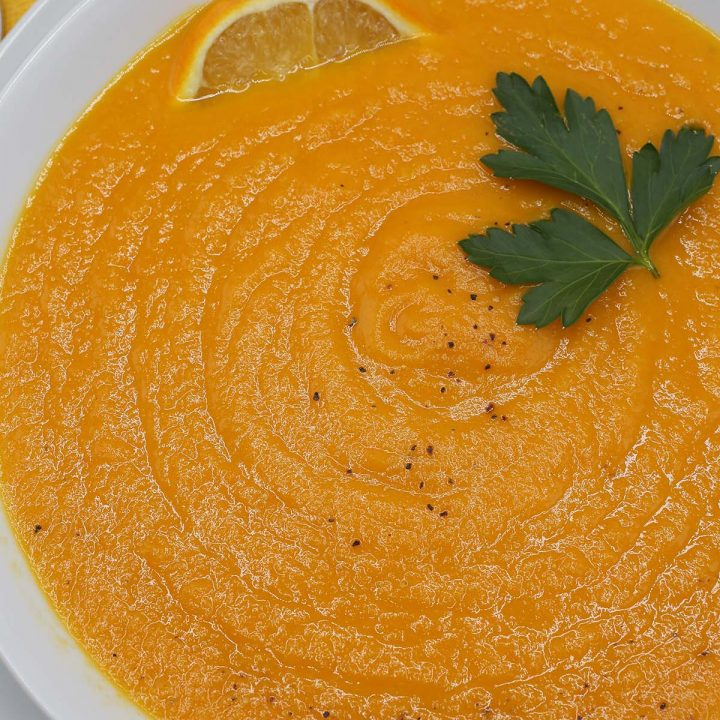 Carrot orange ginger soup
