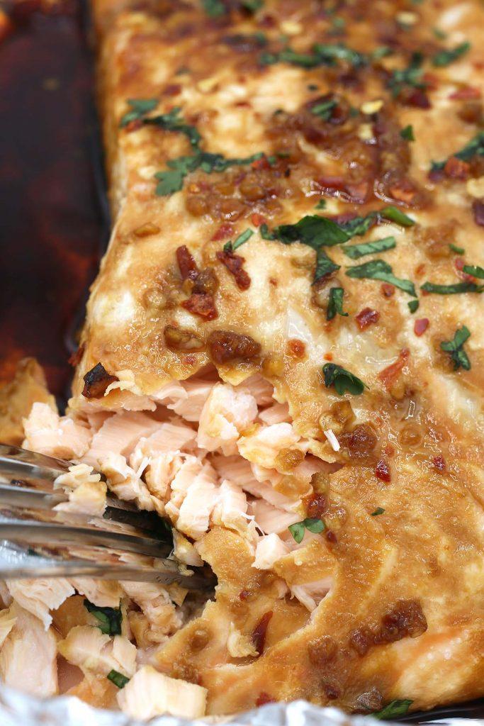 Salmon in foil.