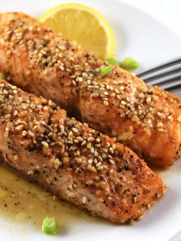 Honey sriracha baked salmon