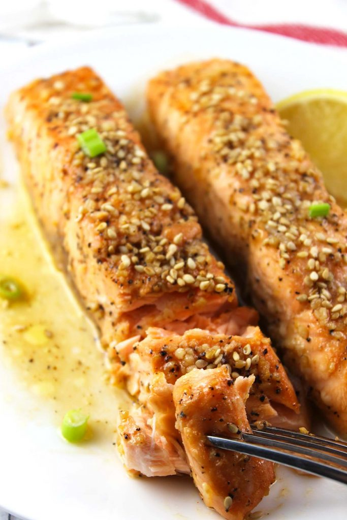 Honey sriracha baked salmon