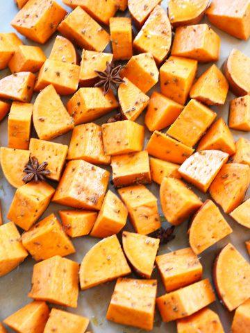Sweet potatoes with aniseed