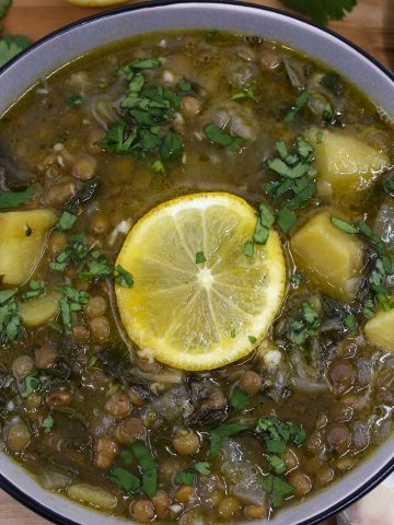 Lentil lemon and potato soup