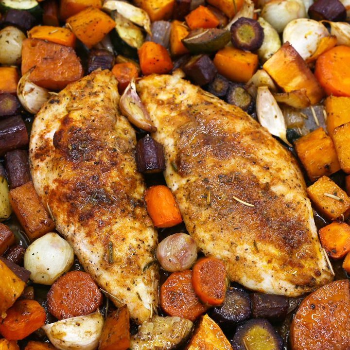 One-pan chicken and vegetables